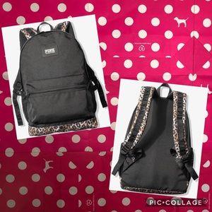 VS PINK CAMPUS BACKPACK / Leopard-Black